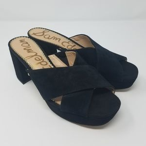 Sam Edelman Shoes - Sam Edelman Black Jayne Suede Platform Sandals - 8